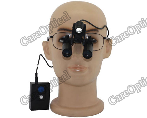 headband prismatic dental surgical loupes 5.0x with LED headlights H60