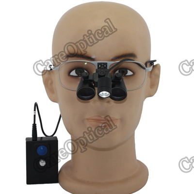 flip up dental loupes surgical loupes Ni-alloy frames with headlights H60