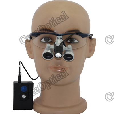 waterproof dental loupes surgical loupes 2.5x with LED headlight H60