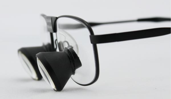 TTL loupes 2.5x titanium frames