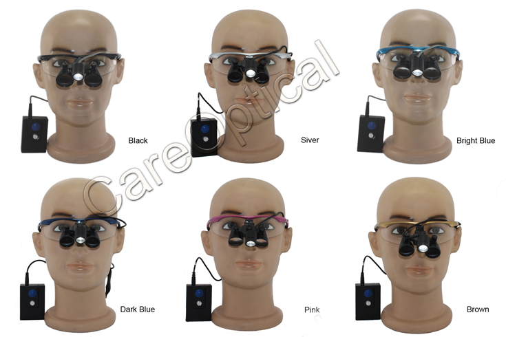 Flip up dental surgical loupes 3.0x with headlight H60