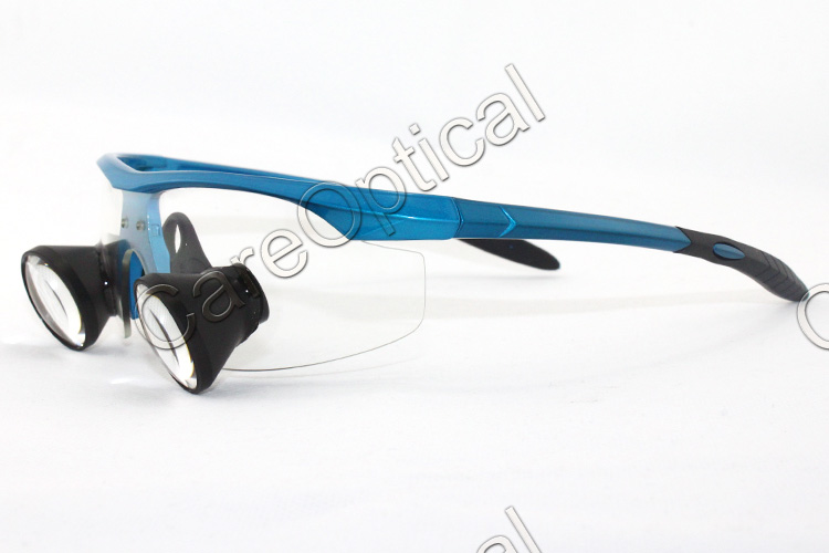 TTL loups dental loupes surgical loupes sports frames Bright Blue