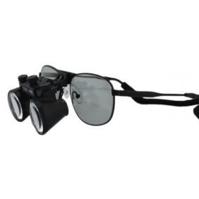 Flip Up Galilean loupes 2.5X with Polarized lens Ni-alloy Frames